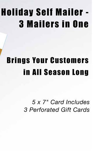 Holiday Self Mailer - 3 Mailers in One